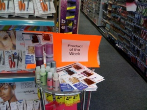 The best seller display... Highlighting with neon orange is an interesting touch